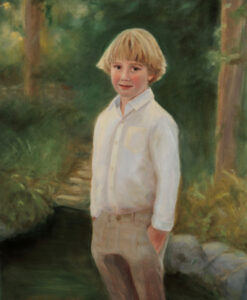 Oil portrait by portrait artist Sonia Hale, loard