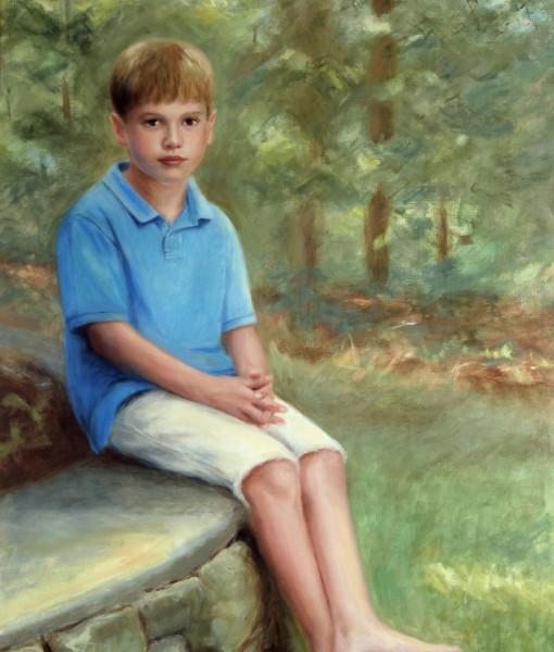 Portrait Artists, Oil Portraits, Outdoor Boy's Portrait