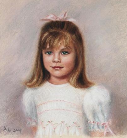 Portrait Artists Sonia Hale, Fine Art Custom Child Oil Pastel Portrait