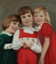 Portrait Artists, Family painting, Oil portrait by Boston portrait artist Sonia Hale, portrait artists