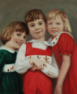Portrait Artists, Family painting, Oil portrait by Boston portrait artist Sonia Hale, portrait artists