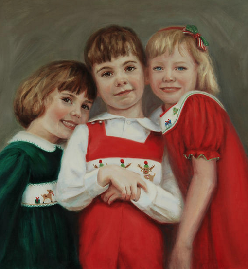 Portrait Artists Sonia Hale, Fine Art Portrait, Group Child Oil Portrait