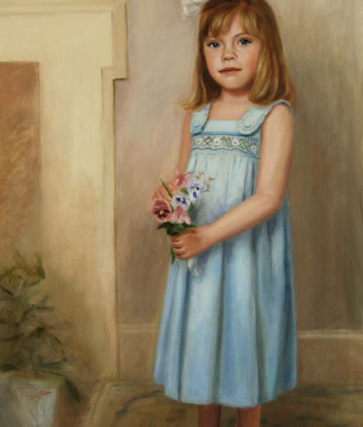 Family painting, Oil portrait by Boston portrait artist Sonia Hale, portrait artists