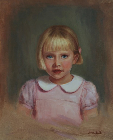 Oil Portrait by Portrait Artist Sonia Hale.maisie.crop