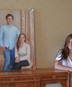 oil portrait of teens teenagers by Sonia Hale