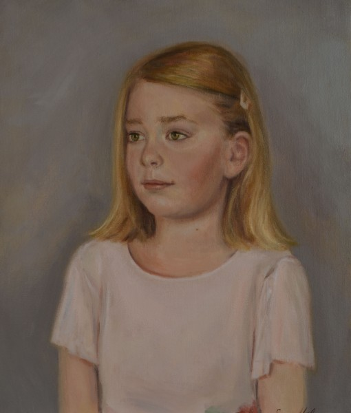 Girl's Oil portrait, Boston portrait artist