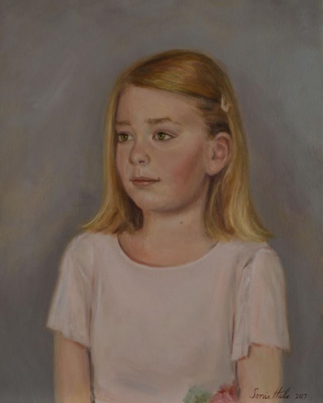 Girl's Oil portrait, Boston portrait artist