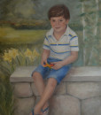 Child oil portrait, commission a portrait, oil portrait commission