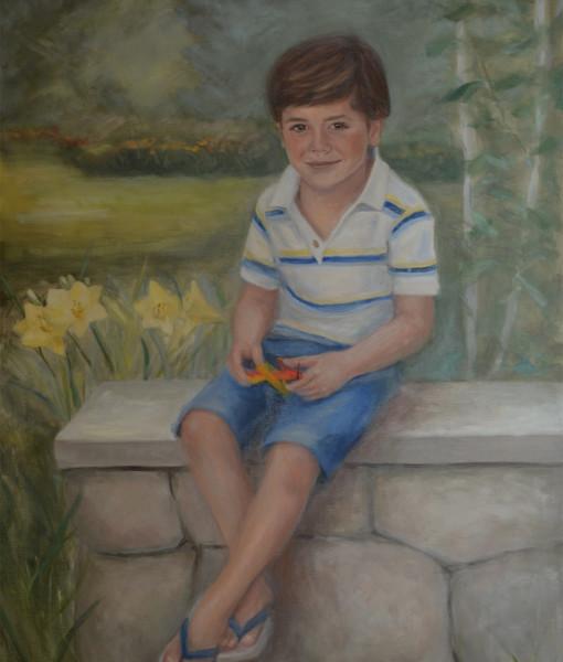 Child oil portrait