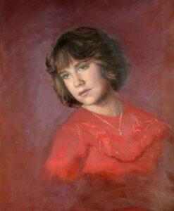 Posthumous oil portrait Sonia Hale