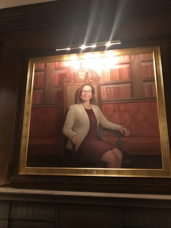 Harvard Club of Boston, academic commission, oil portrait