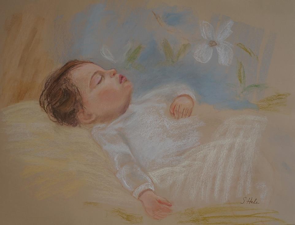 Sleeping Baby pastel painting | Portrait Artists: Boston ...